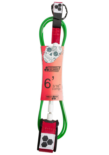 채널 아일랜드 서핑보드 리쉬 6.0/CHANNEL ISLANDS BOBBBY COMP LEASH 6_RED/WHITE/GREEN_PCI709R1