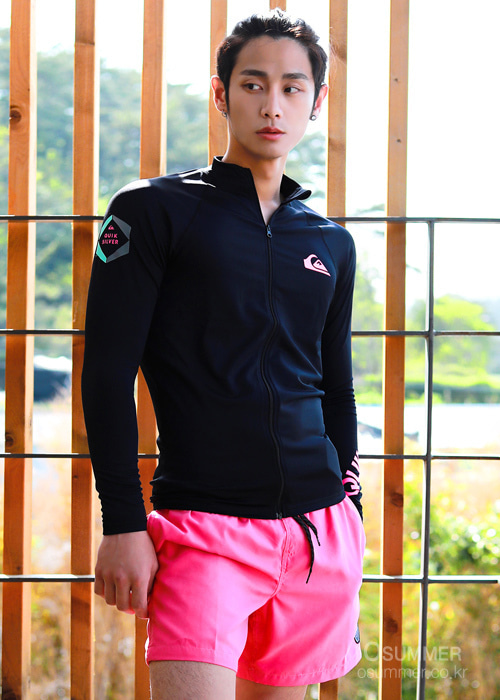 퀵실버 남성 집업 래쉬가드 QUIKSILVER ONE DAY4 ZIP-UP KQS191-01_BLACK2_NQS907FH[A014]