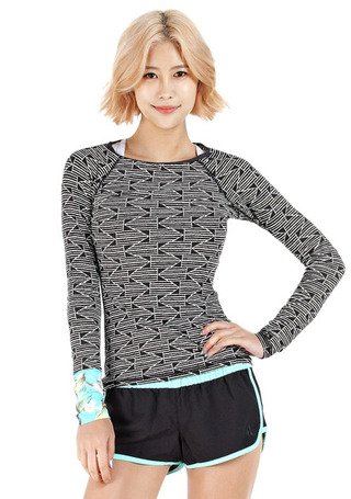 빌라봉 우먼 래쉬가드#NBI527MF / OFFBLACK BILLABONG_ WOMENS RASHGUARD  WMS STAND AGAIN