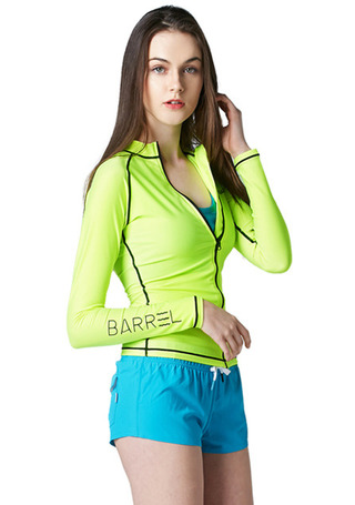 [5%쿠폰] 배럴 우먼 피하 집업 자켓 #NB6611Y2 / NEON YELLOW BARREL_ WMS PIHA ZIP-UP JACKET