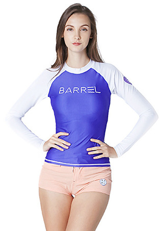 [5%쿠폰] 배럴 우먼 이브 래쉬가드 #NB6606WP / PURPLE/WHITE BARREL_ WMS EVE RASHGUARD