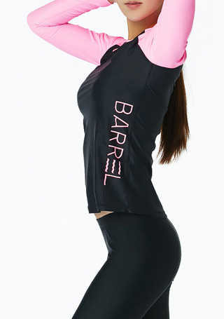[5%쿠폰] 배럴 우먼 사이드 릴렉스 핏 래쉬가드 #NB6715BN / BLACK/NEON PINK BARREL_ WMS SIDE RELAX FIT RASHGUARD