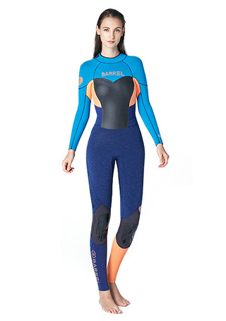 [5%쿠폰]배럴 우먼 풀 슈트 백집 3/2mm BARREL WMS NEOPRENE 3MM FULL SUIT BACK ZIP__AQUA BLUE/PEACH_NB675888