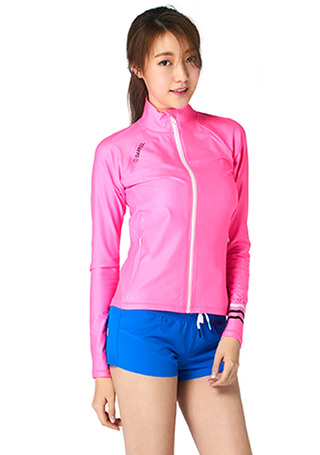 [5%쿠폰] 배럴 우먼 셸리 릴렉스 핏 집업 래쉬가드 #NB6721PK / NEON PINK/WHITE BARREL_ WMS SHELLY RELAX FIT ZIP UP RASHGUARD