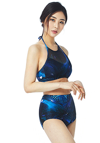 [5%쿠폰] 배럴 우먼 메쉬 홀터 액티비키니 #NB672850 / JUNGLE NIGHT BARREL_ WMS MESH HALTER ACTIVI-KINI
