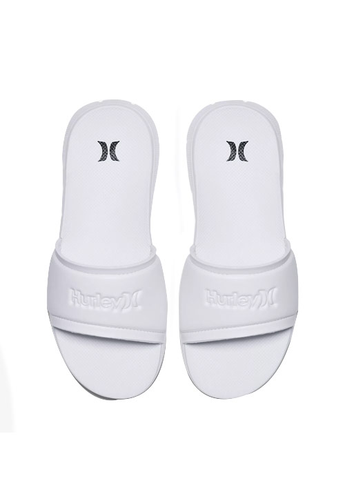 헐리 여성 슬리퍼 샌들 #WHU803WH / 100 (WHITE) HURLEY WMS ONE & ONLY FUSION SLIDE AJ0058