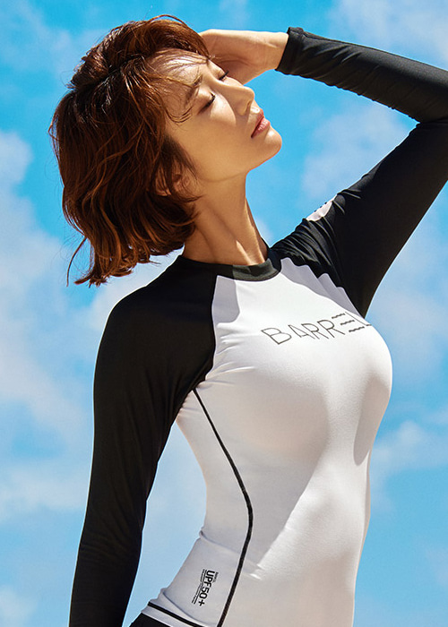 [5%쿠폰] 배럴 우먼 이브 래쉬가드 #NB6411WB / WHITE/BLACK BARREL_ WMS EVE RASHGUARD