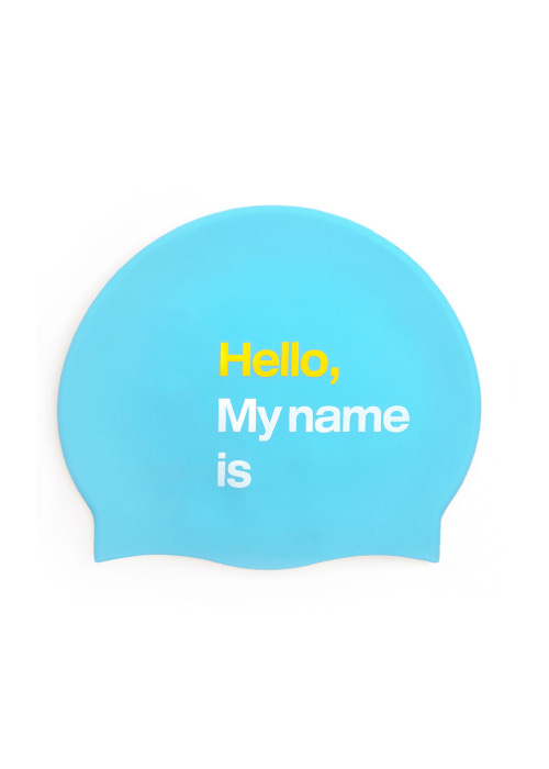 [5%쿠폰] 배럴 헬로 스윔 캡 #IB6816BU / BLUE BARREL HELLO SWIM CAP BWHCCAA002