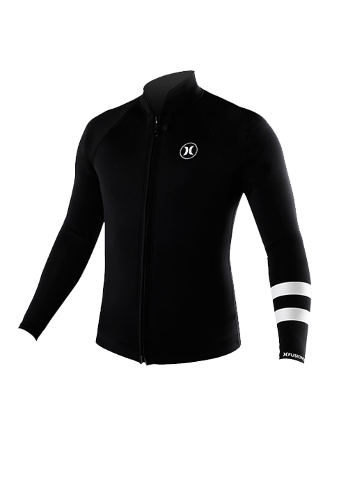 헐리 남성 웻슈트 자켓 타파 2mm #NHU813BK / 010 (BLACK) HURLEY MENS WET SUIT JACKET AT2579 SMU ADVANTAGE 2MM ZIP WET JACKET