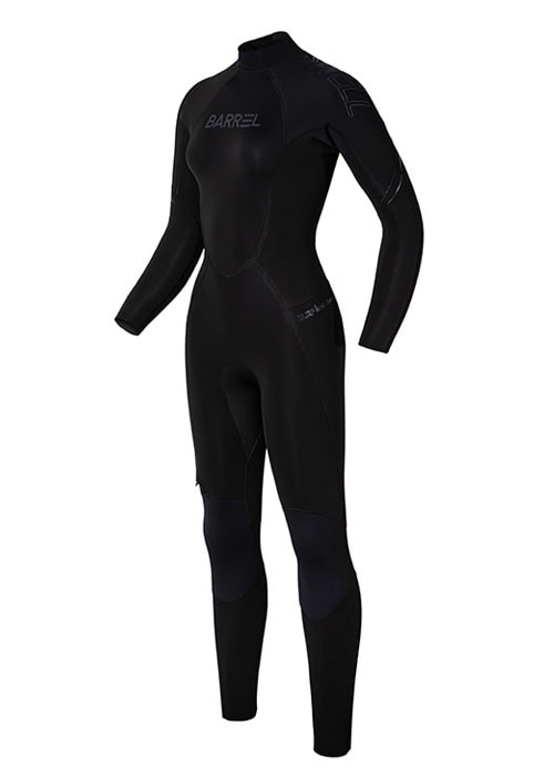 [5%쿠폰]배럴 우먼 3mm 네오프렌 백 집 풀 슈트 BARREL WMS 3MM NEOPRENE BACK ZIP FULL SUIT_BWIWNPO003_BLACK_SB6914BK