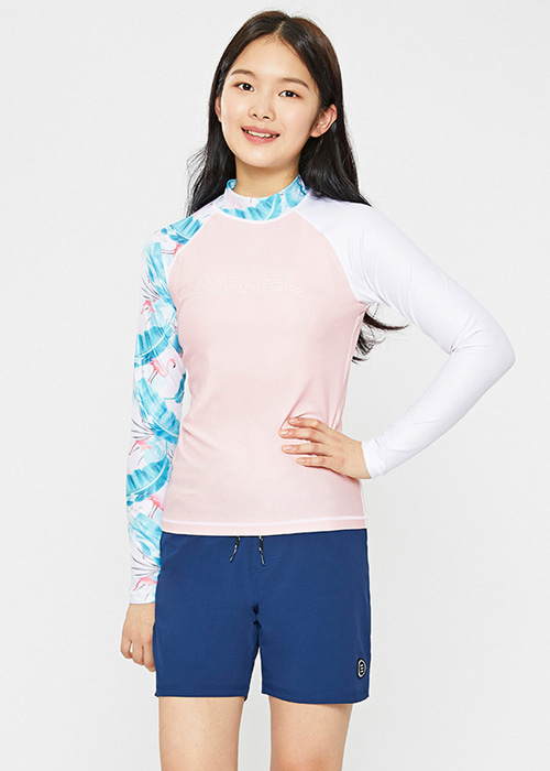 [5%쿠폰]배럴 (10세~14세용) 유스 ODD 래쉬가드 BARREL YOUTH ODD RASHGUARD_BWIJRGT002_FLAMINGO_NB69486F [B064]