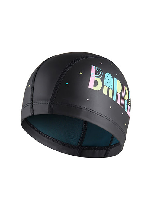 [5%쿠폰]배럴 키즈 레터링 실리텍스 스윔 캡 BARREL KIDS LETTERING SILITEX SWIM CAP_BWIKSWA002_BLACK_IB6922BK [71]