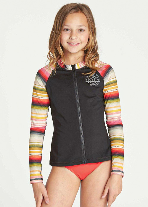 빌라봉 유스 집업 래쉬가드/BILLABONG GIRLS SURF DAYZ PERFORMANCE LS ZIP(GR55TBF2)_SEP (SERAPE)_NBI905R2/SYBI905R2