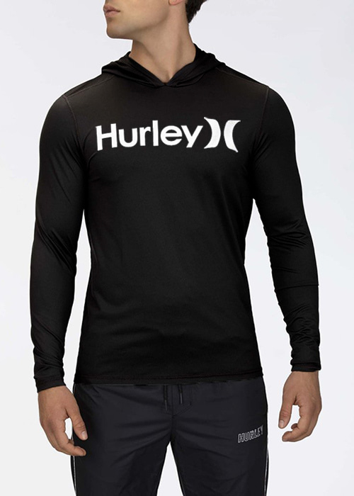 헐리 남성 루즈핏 후디 래쉬가드/HURLEY ONE & ONLY SURF SHIRT HOODED LONG SLEEVE CJ6754-(010) BLACK_NHU003BK