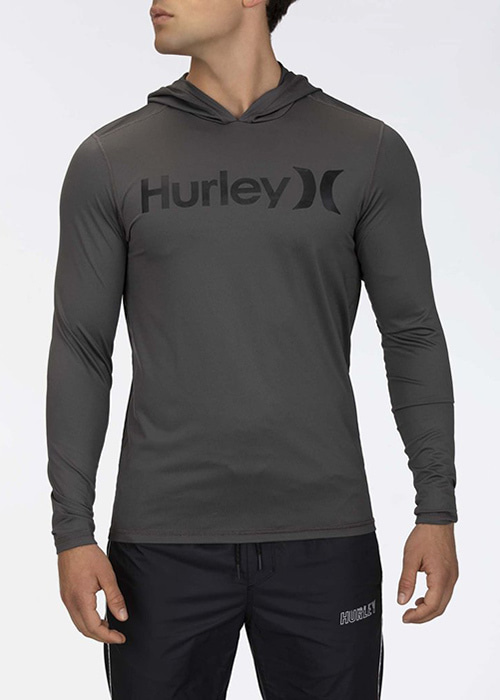 헐리 남성 루즈핏 후디 래쉬가드/HURLEY ONE & ONLY SURF SHIRT HOODED LONG SLEEVE CJ6754-(081) IRON GREY_NHU003Y4