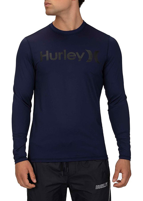 헐리 남성 루즈핏 래쉬가드/HURLEY ONE & ONLY SURF SHIRT LONG SLEEVE 894629-(451) OBSIDIAN_NHU0014O