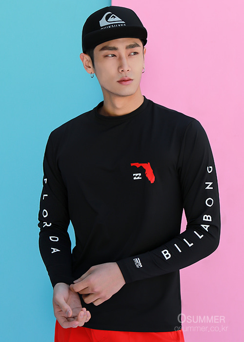 빌라봉 남성 루즈핏 래쉬가드/BILLABONG NATIVE FLORIDA LF LS/MR591BNF-BLK(BLACK)_NBI002BK/S7BI002BK