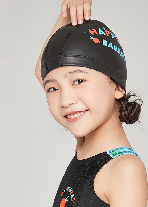 5%쿠폰/배럴 키즈 해피 실리텍스 스윔 캡_BARREL(20)_BG9KSSC32_YOUTH HAPPY SILITEX SWIM CAP_BLACK_IB6007BK_FIB6007BK