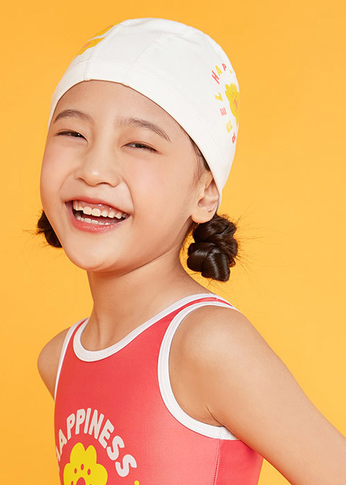 5%쿠폰/배럴 키즈 해피 실리텍스 스윔 캡_BARREL(22)_BG9KSSC32_YOUTH HAPPY SILITEX SWIM CAP_WHITE_IB6007WH_FIB6007WH