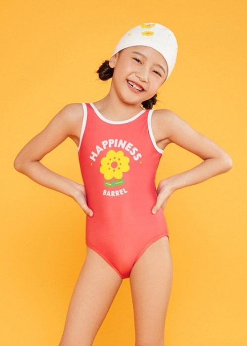 5%쿠폰/배럴 키즈 트레이닝 해피니스 U백 스윔슈트_BARREL(C003)_BG2KSSW42_KIDS TRAINING HAPPINESS U BACK SWIMSUIT_HAPPINESS_SQB6005PK