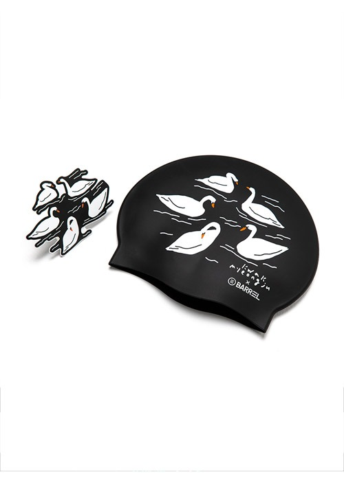 5%쿠폰/배럴 스완스 스윔 캡_BARREL(35)_BG9USSC08_SWANS SWIM CAP_BLACK_FIB6014BK
